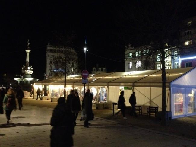 Location de chapiteau, marché de Noël de Valence (26)