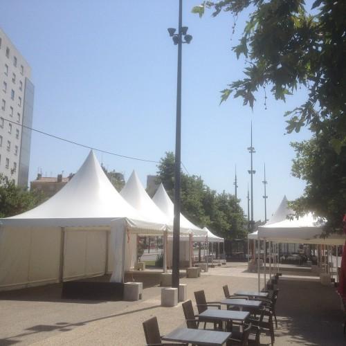Tour de France Valence 2015 (Pagodes et tentes)