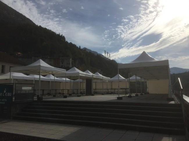 Sous les tentes, premier salon des vins dédié à la traction animal